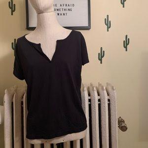 Jcrew black v neck tshirt size XL